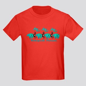 Kokopelli Parade Dark Kids Dark T-Shirt