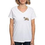 Bearded Collie Women's V-Neck T-Shirt