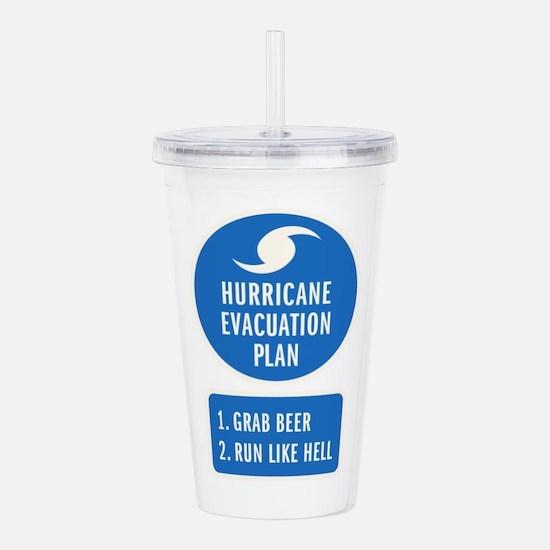 Hurricane Evacuation P Acrylic Double-wall Tumbler