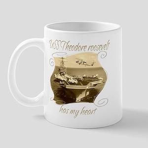 USS Theodore roosevelt9 Mugs