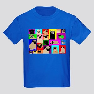 Lots o Pugs Kids Dark T-Shirt