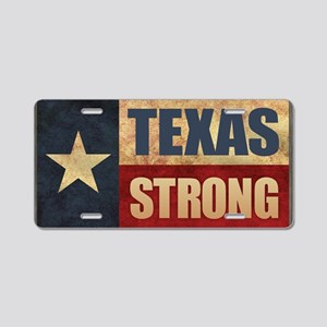 Texas Strong Aluminum License Plate