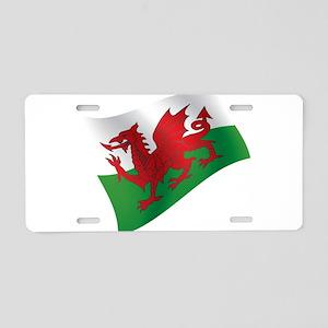 Welsh Flag Aluminum License Plate