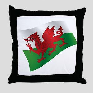 Welsh Flag Throw Pillow