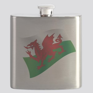 Welsh Flag Flask