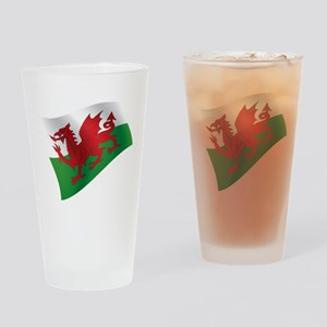 Welsh Flag Drinking Glass