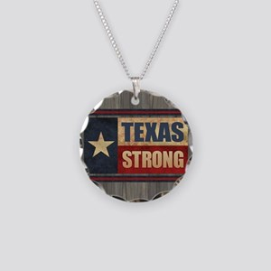 Texas Strong Necklace Circle Charm