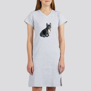 French Bulldog (blk)1 Women's Nightshirt