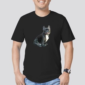 French Bulldog (blk)1 Men's Fitted T-Shirt (dark)