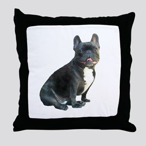 French Bulldog (blk)1 Throw Pillow