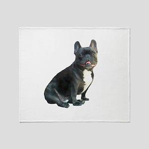 French Bulldog (blk)1 Throw Blanket