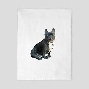 French Bulldog (blk)1 Twin Duvet