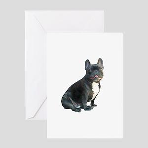 French Bulldog (blk)1 Greeting Card