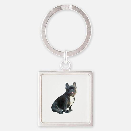 French Bulldog (blk)1 Square Keychain