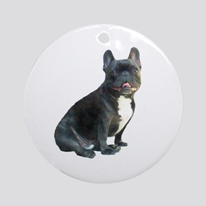 French Bulldog (blk)1 Ornament (Round)