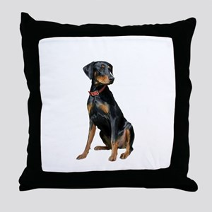Doberman (nat1) Throw Pillow