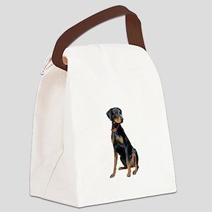 Doberman (nat1) Canvas Lunch Bag