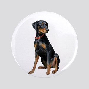 "Doberman (nat1) 3.5"" Button"
