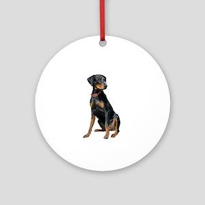 Doberman (nat1) Ornament (Round)