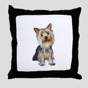 Silky Terrier (gpol1) Throw Pillow