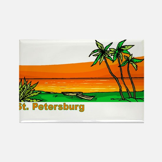 St. Petersburg, Florida Rectangle Magnet