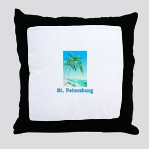 St. Petersburg, Florida Throw Pillow