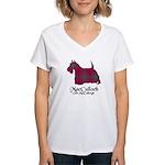 Terrier-MacCulloch.MacCullo Women's V-Neck T-Shirt