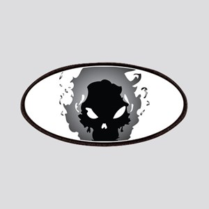 Flaming Skull Patches