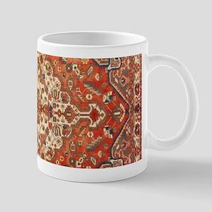 Antique Floral Persian Rug Mugs