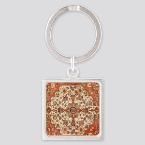 Antique Floral Persian Rug Keychains
