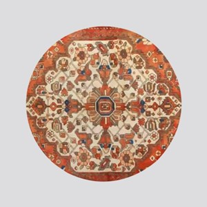 "Antique Floral Persian Rug 3.5"" Button"