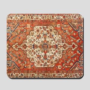 Antique Floral Persian Rug Mousepad