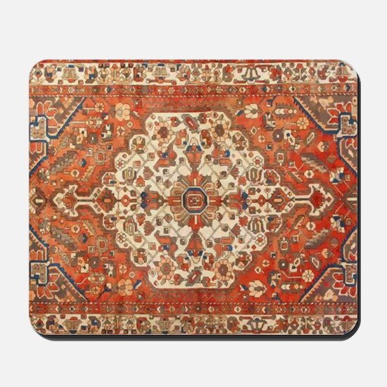 Antique Floral Persian Rug Mousepad