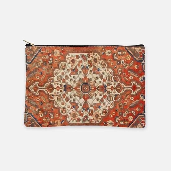 Antique Floral Persian Rug Makeup Pouch