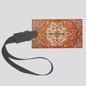 Antique Floral Persian Rug Luggage Tag