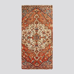 Antique Floral Persian Rug Beach Towel