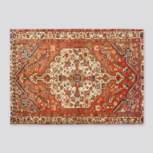 Antique Floral Persian Rug 5'x7'Area Rug