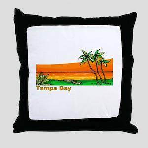 Tampa Bay, Florida Throw Pillow