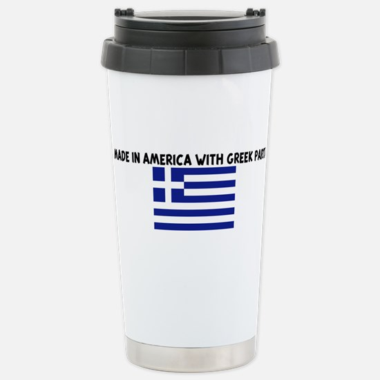 MADE IN AMERICA WITH GREEK PA Mugs
