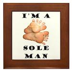 Sole Man Framed Tile