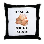 Sole Man Throw Pillow