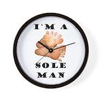 Sole Man Wall Clock