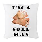 Sole Man Woven Throw Pillow