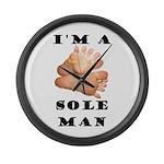 Sole Man Large Wall Clock