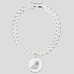 Havanese (W1) Charm Bracelet, One Charm
