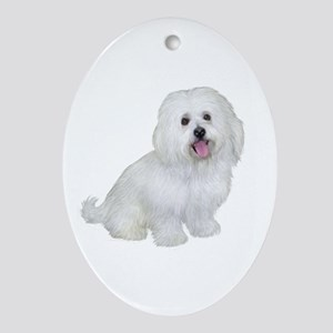 Havanese (W1) Ornament (Oval)