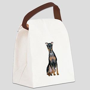 Miniature Pinscher 2 Canvas Lunch Bag