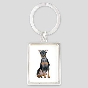 Miniature Pinscher 2 Portrait Keychain