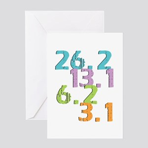 runner distances Greeting Cards