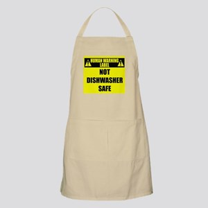 Human Warning Label: Not Dishwasher Sa Light Apron
